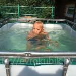 еврокуб для купания детей, бассейн из еврокуба